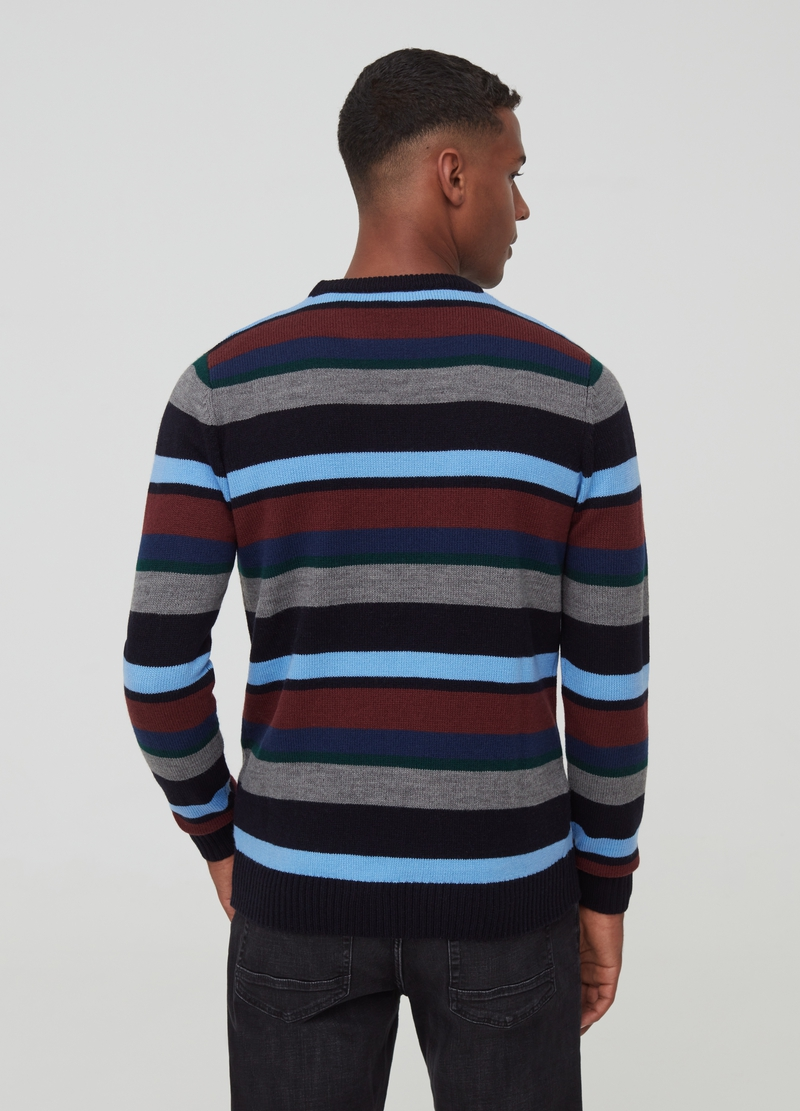 Pullover con motivo a righe image number null