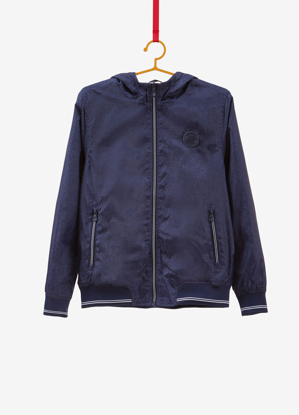 Jacket with patch and all-over print