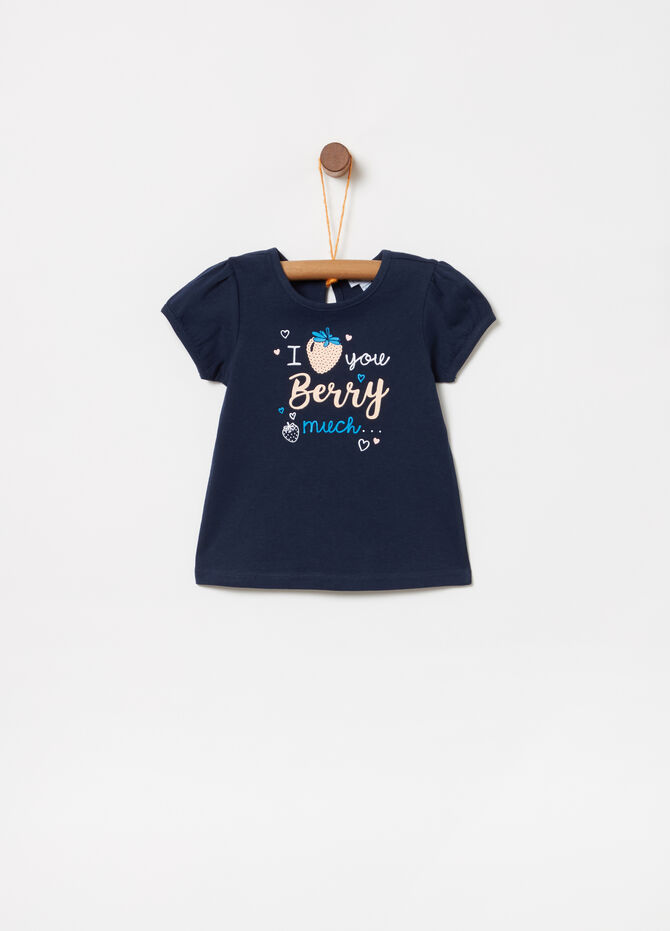 T-shirt BCI con stampa fragole