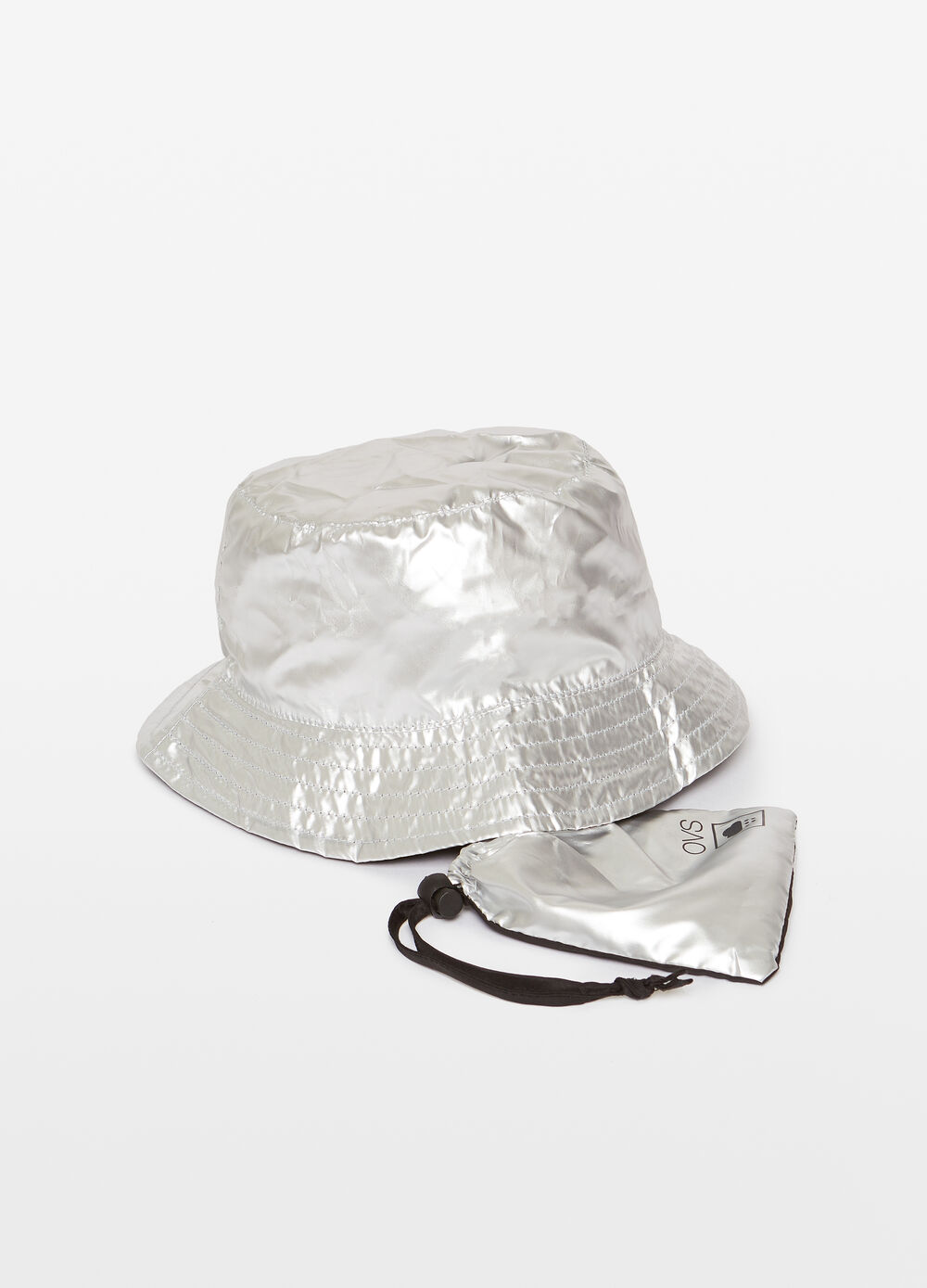 Two-tone waterproof cloche hat with case