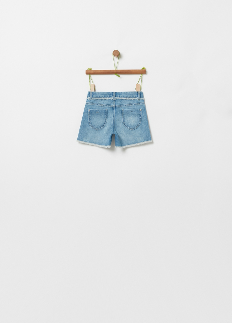 Shorts in denim effetto used image number null