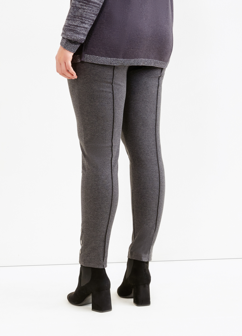 Curvy stretch leggings with studs image number null