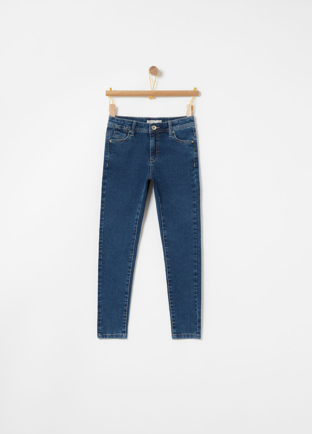 Jeans superskinny in denim leggero