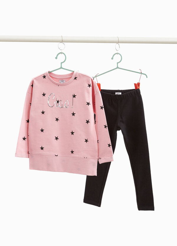 Stars pattern tracksuit in 100% cotton