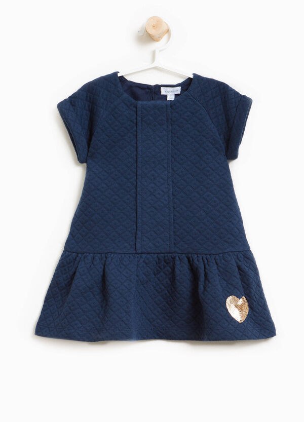 Stretch dress with heart-shaped sequins | OVS