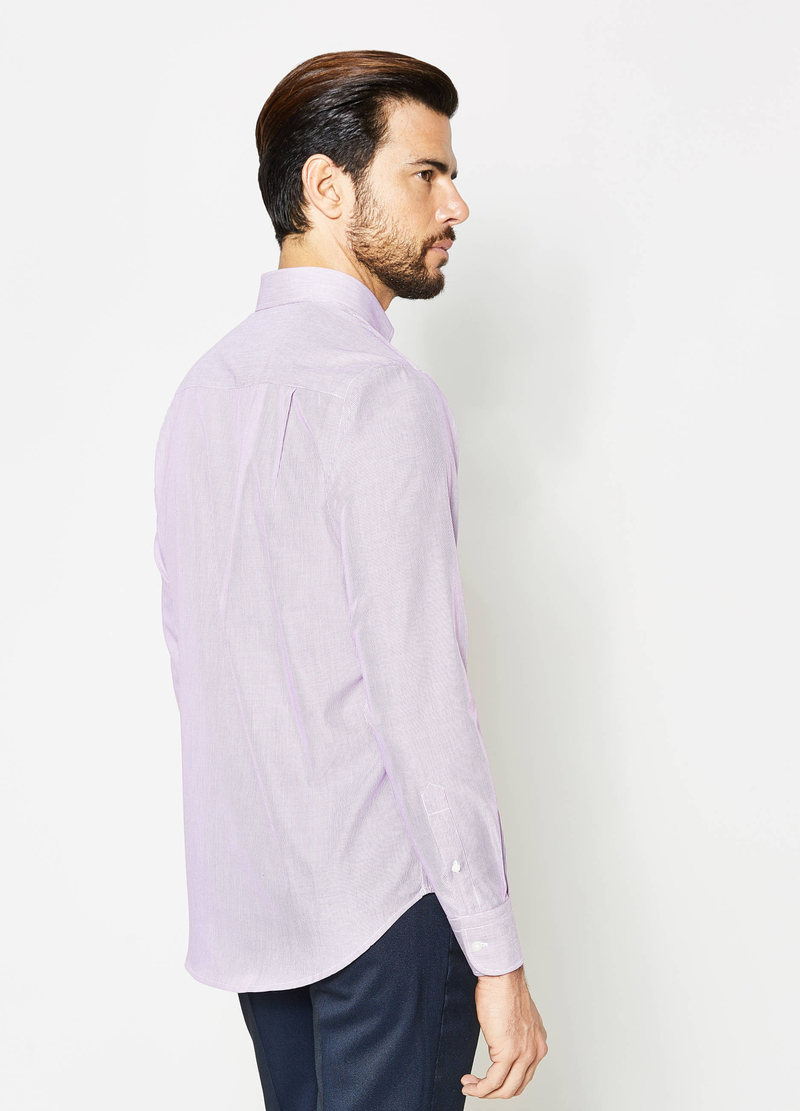 Camicia formale regular fit a micro righe image number null