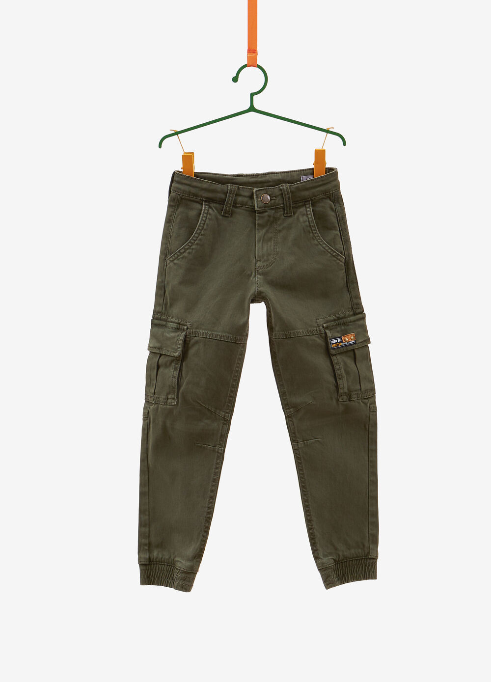 100% cotton cargo trousers with patch