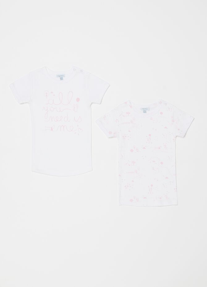 Set due t-shirt intime stampa e fantasia