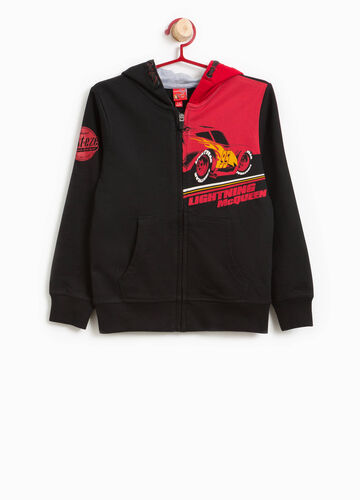 100% cotton hoodie with Cars print