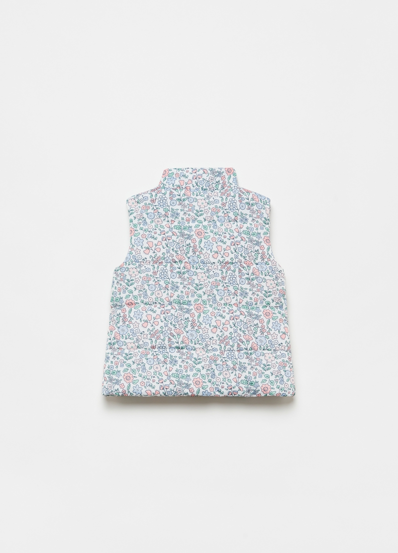 Padded floral gilet image number null
