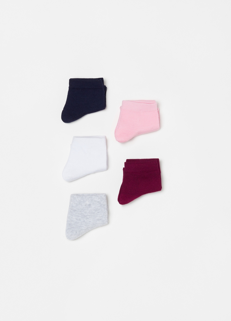 Five-pair pack stretch short socks image number null