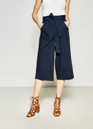 Cotton crop palazzo trousers