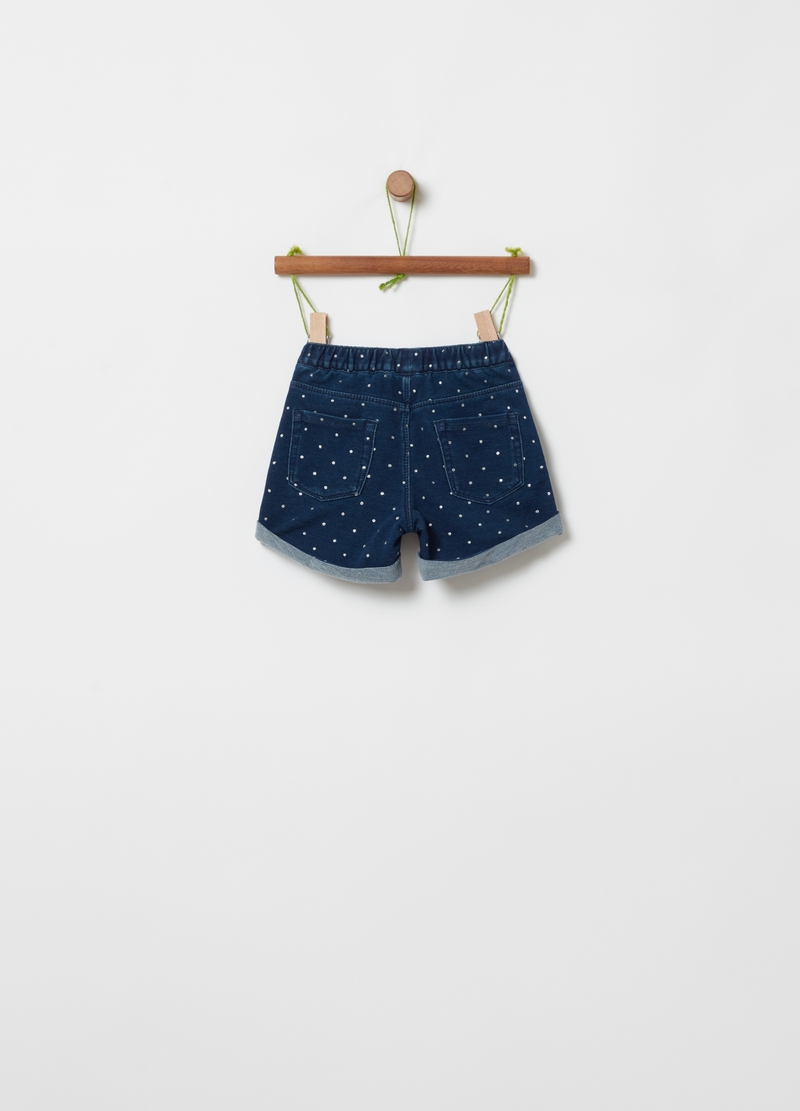 Shorts in denim a pois image number null
