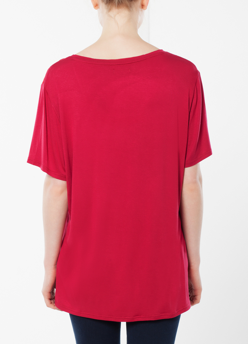 T-shirt with openwork front image number null