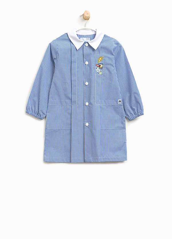 Micro check smock with patch | OVS