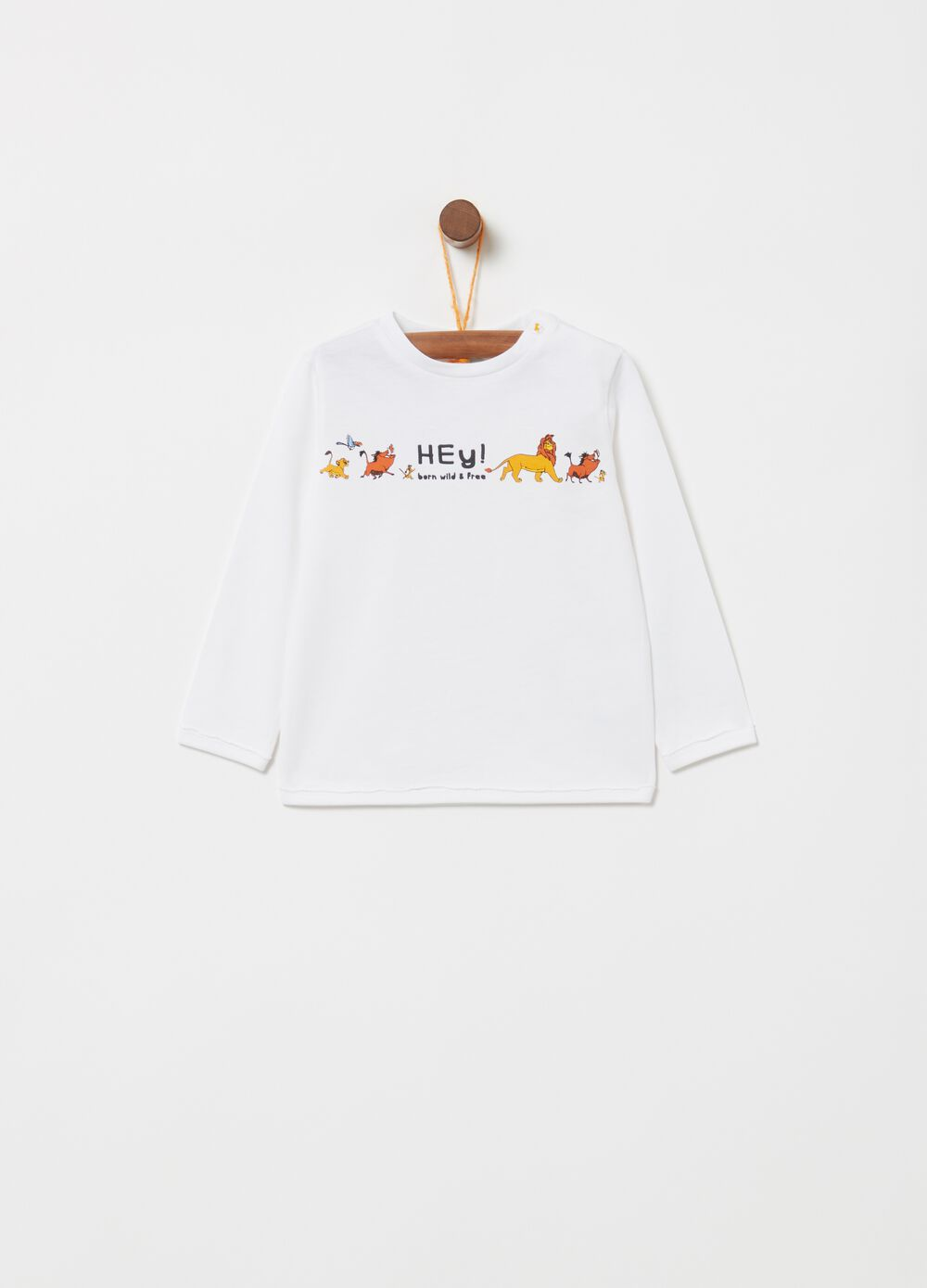 Cotton Lion King T-shirt with long sleeves