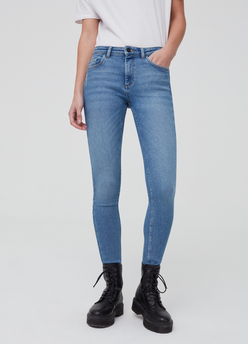 Jeans a vita alta effetto vintage image number null