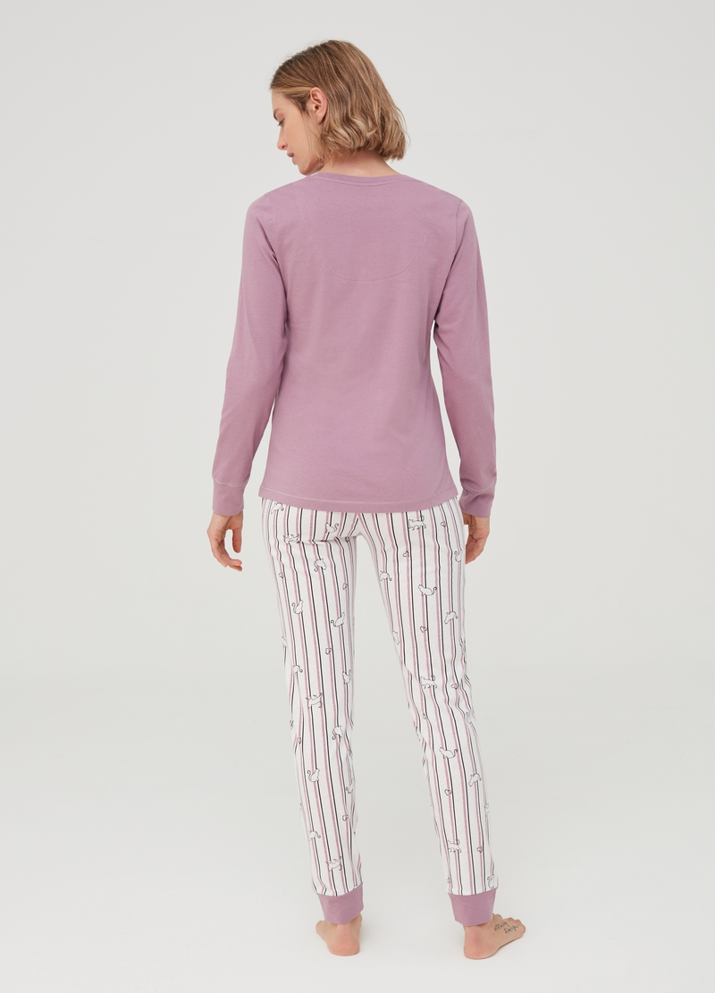 100% organic cotton pyjamas with stripes image number null
