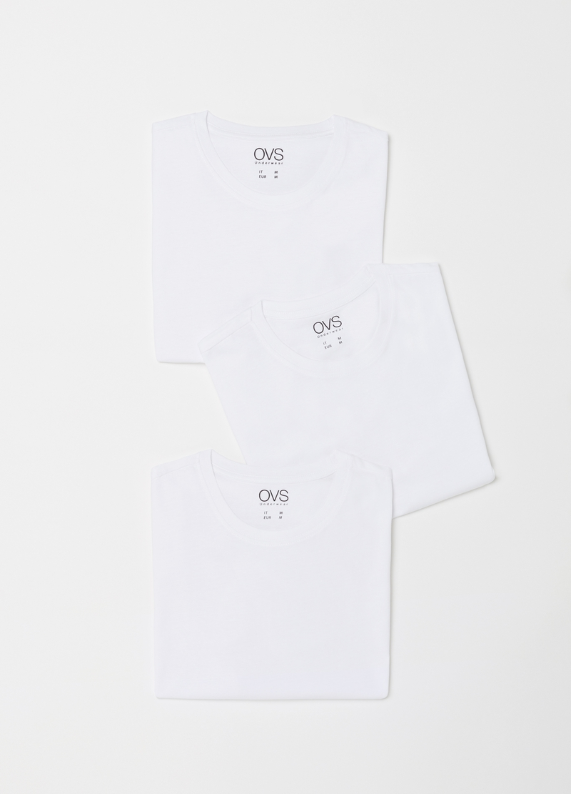 100% cotton undershirt with ribbing image number null
