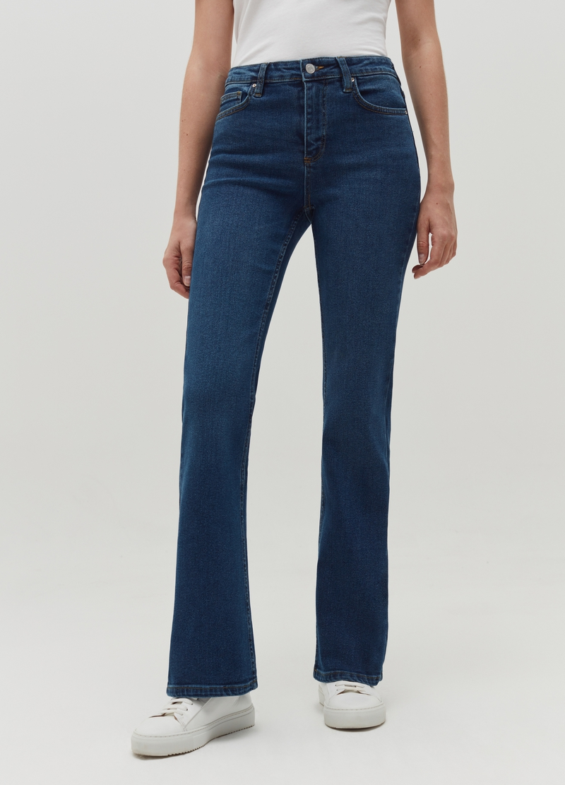 Flare-fit jeans with five pockets image number null