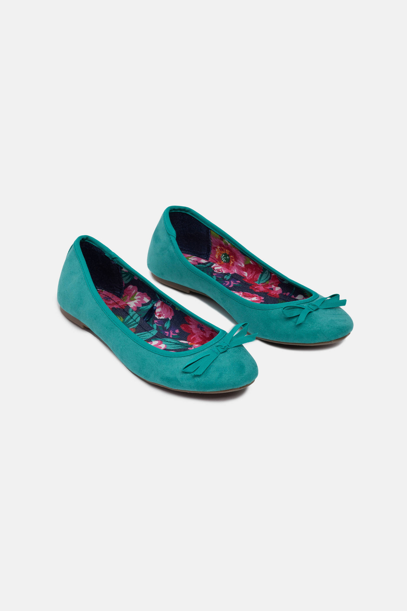Ballet flats with decorative bow image number null