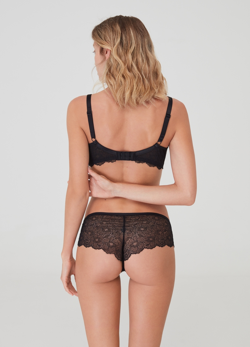 French knickers in stretch lace image number null