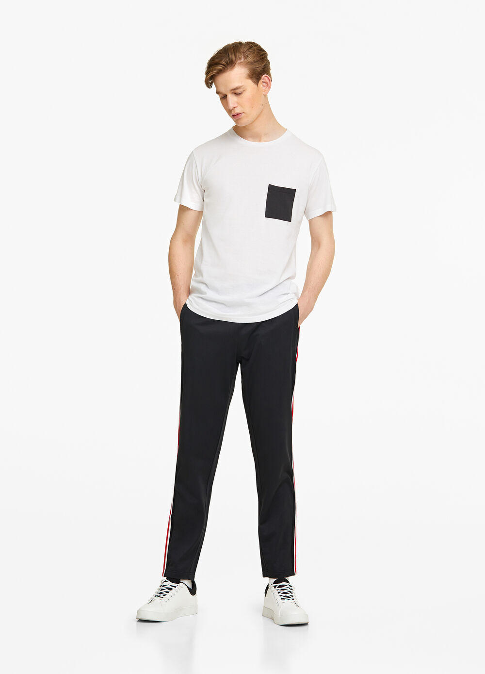 Joggers with striped bands