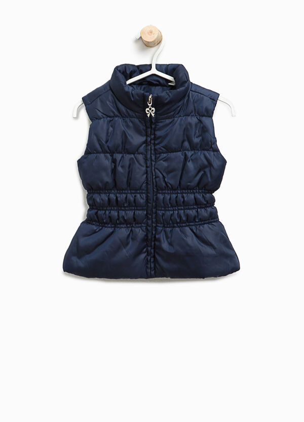 Padded gilet with bow zip pull | OVS