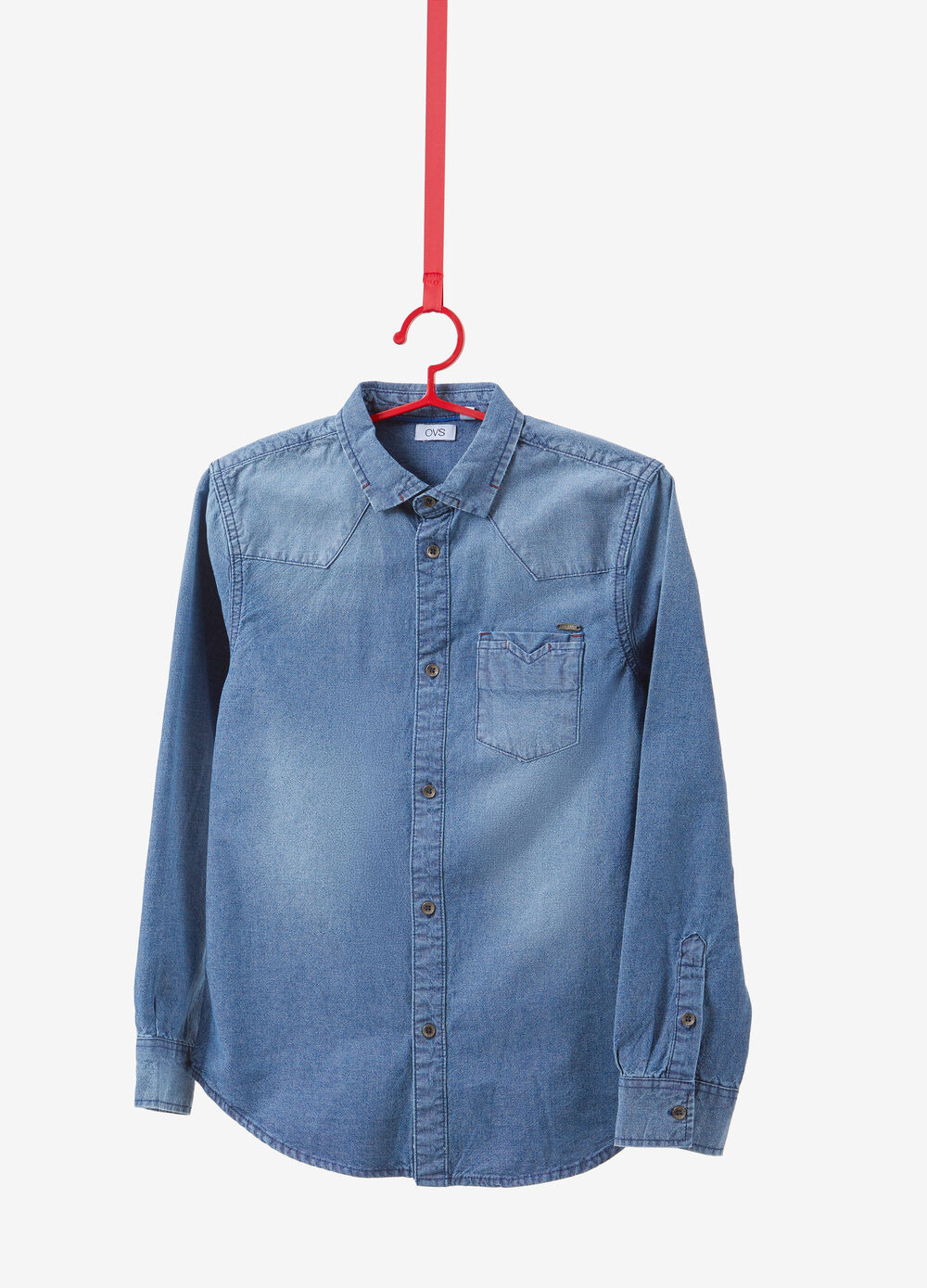 100% cotton shirt with washed effect