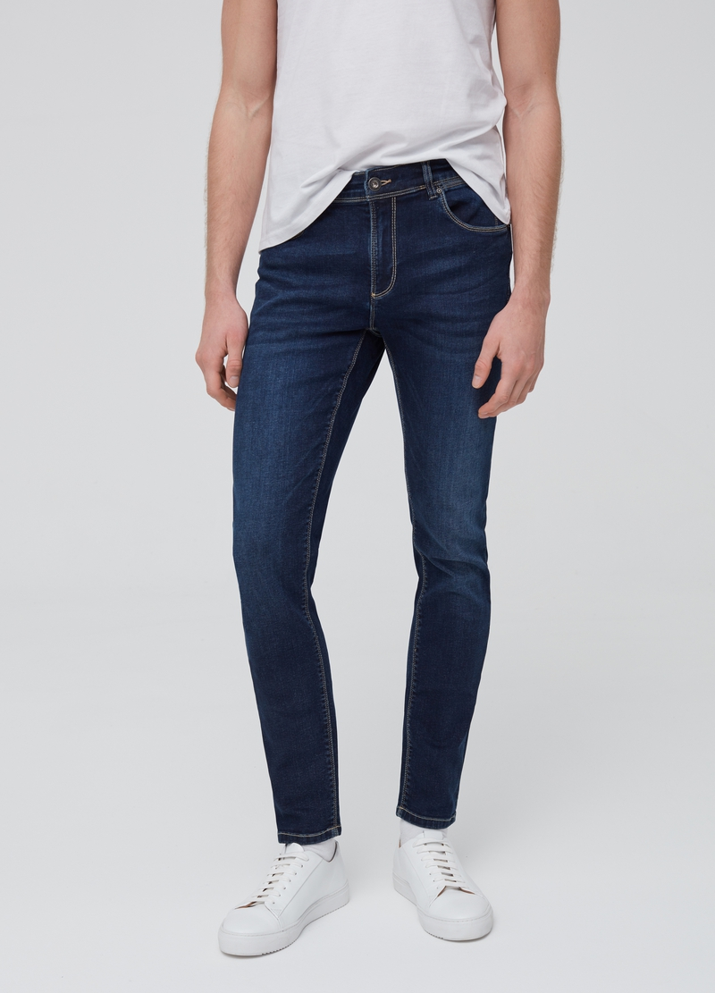 Skinny-fit stretch jeans with five pockets image number null