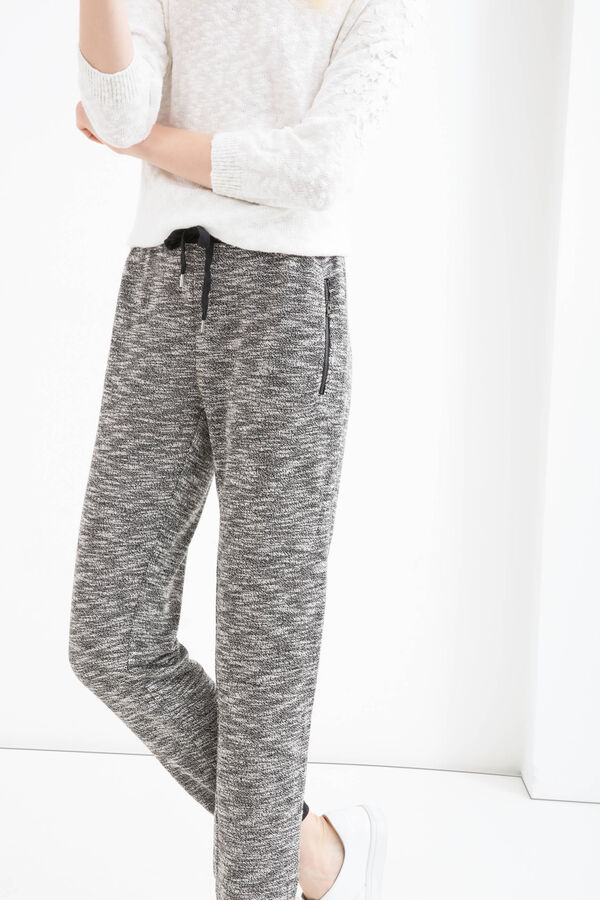 Cotton blend joggers with drawstring   OVS