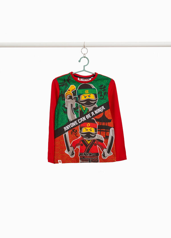 Cotton T-shirt with maxi Ninjago print