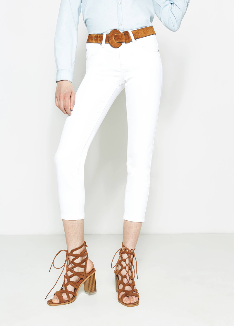 Jeans crop skinny fit stretch image number null