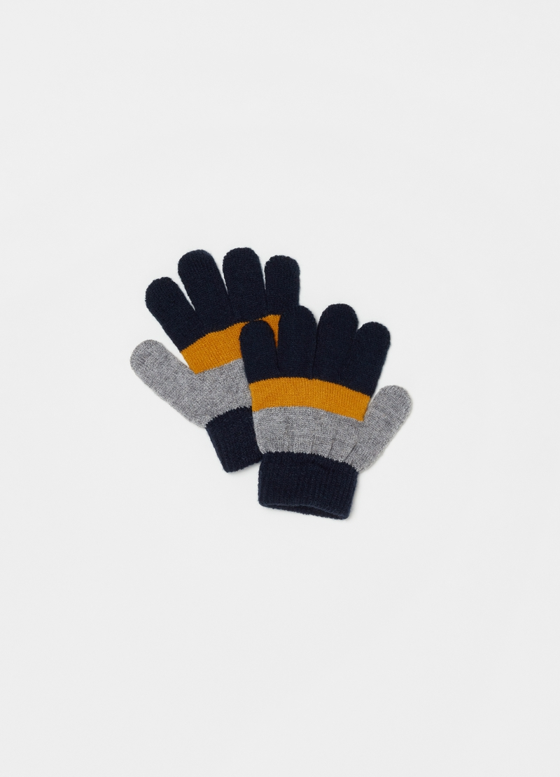 Stretch colourblock gloves image number null