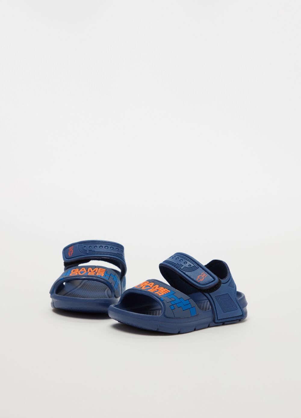 Slippers with Velcro fastening straps