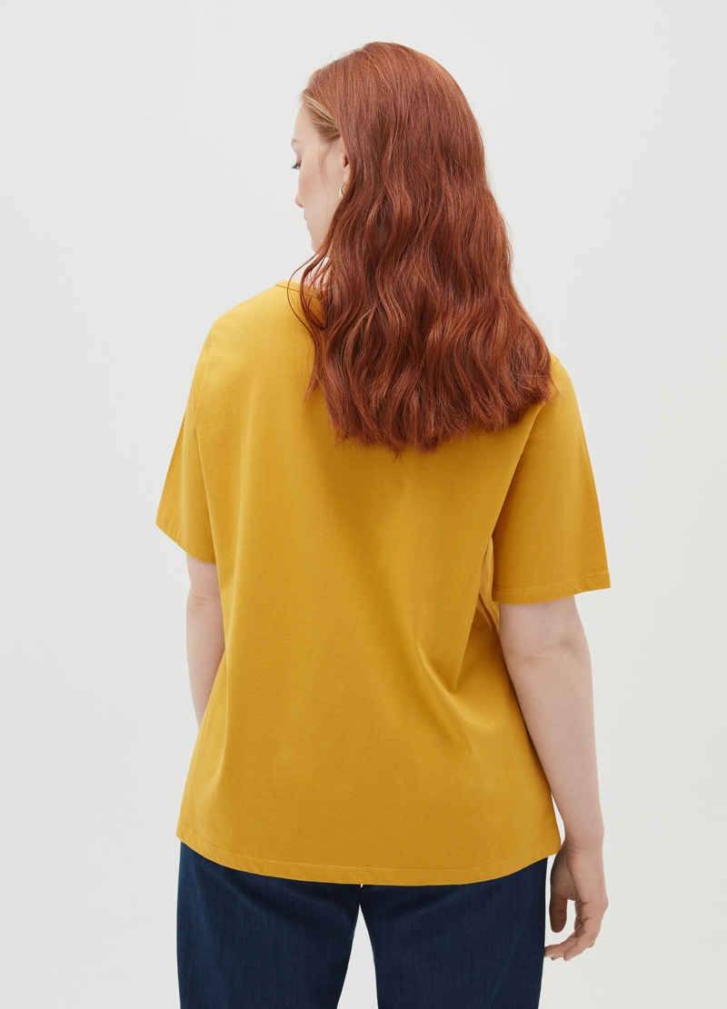Curvy 100% cotton T-shirt with round neck image number null