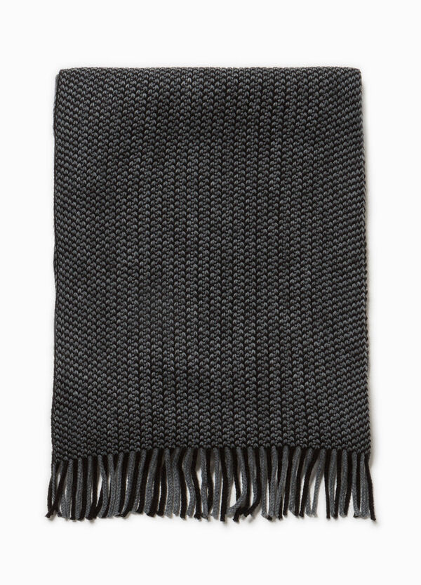 Two-tone knitted scarf. | OVS