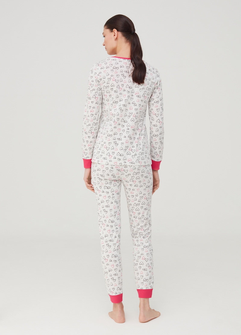 Heart patterned pyjamas image number null