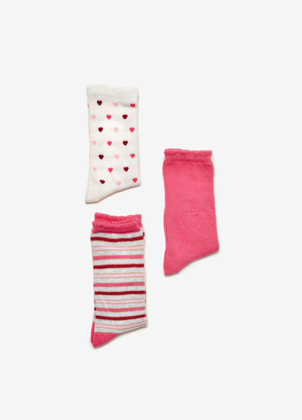 Three-pack long stretch cotton socks