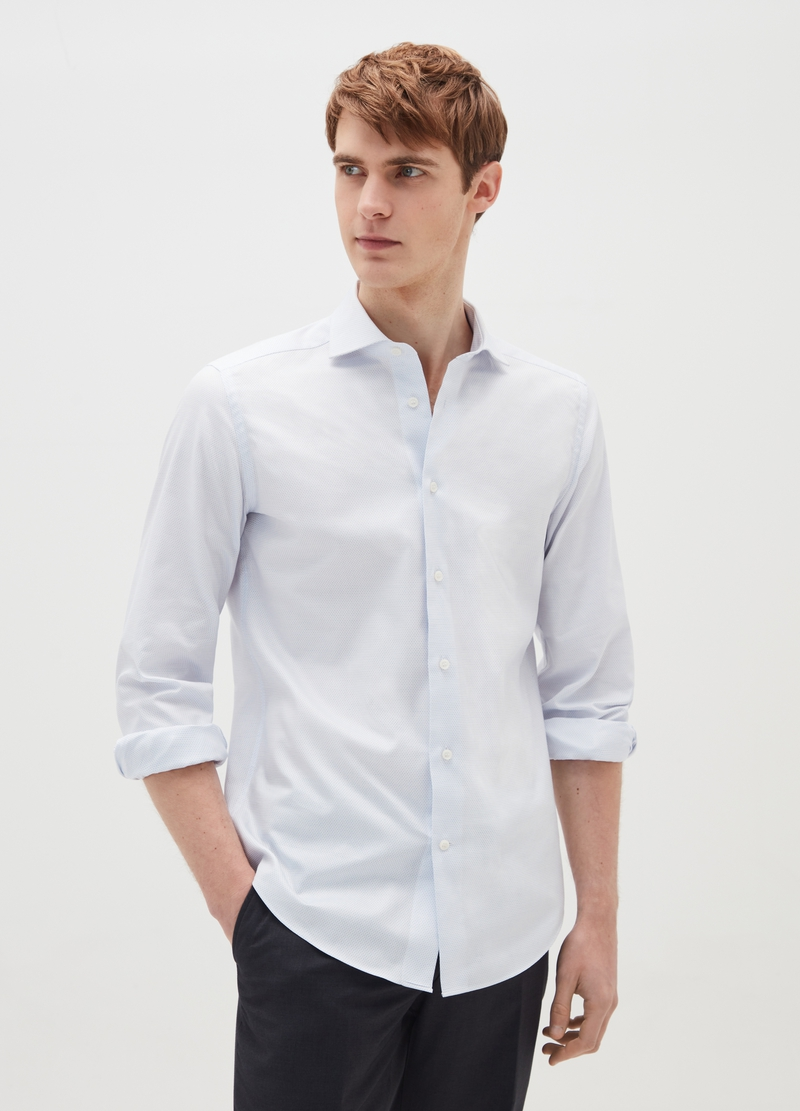 Slim-fit shirt in Oxford image number null