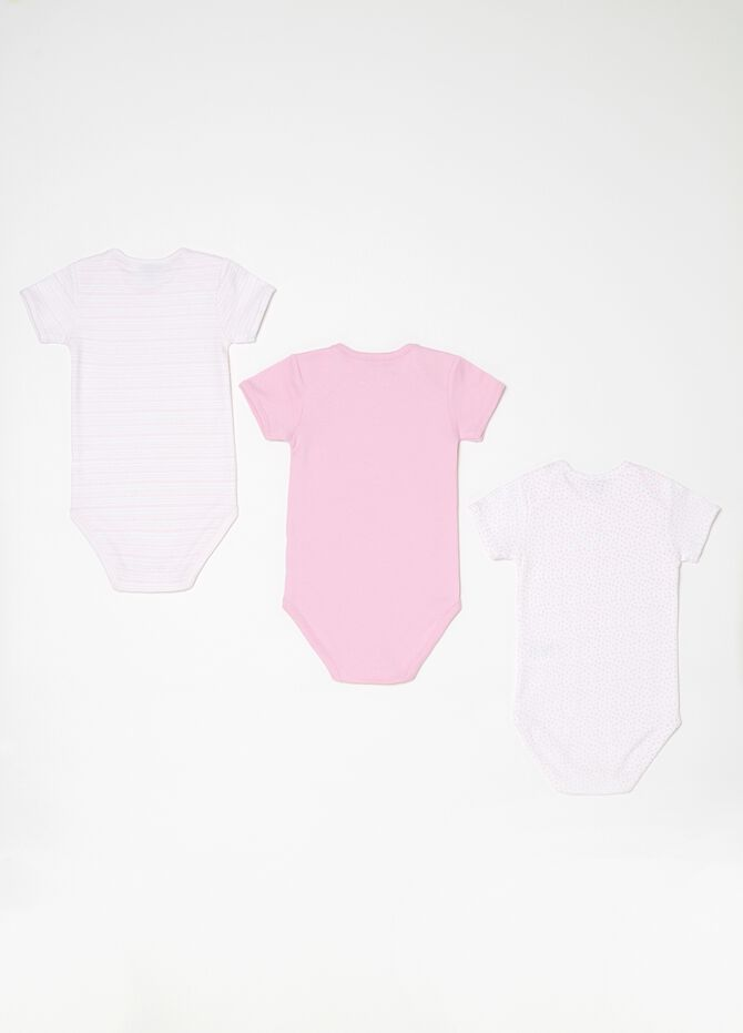 Set tre body in biocotton e fantasia