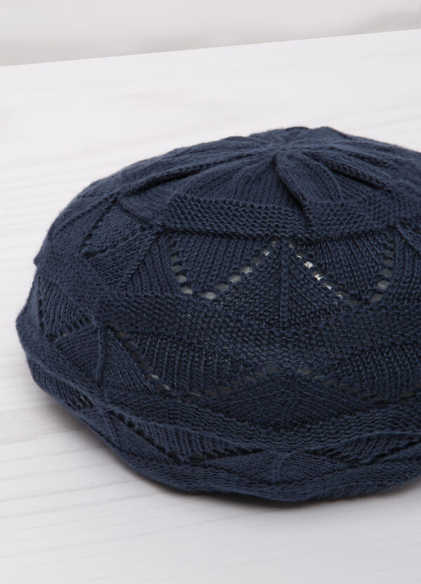 Openwork cotton beret | OVS