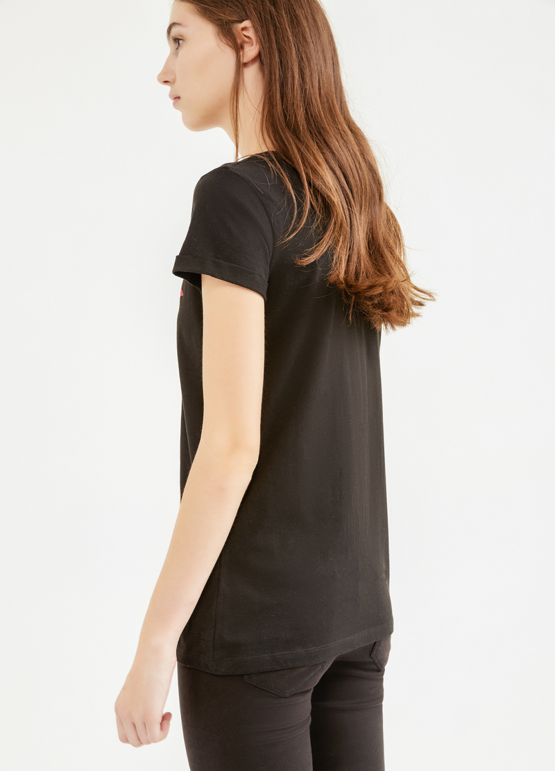 T-shirt puro cotone stampa Biancaneve image number null