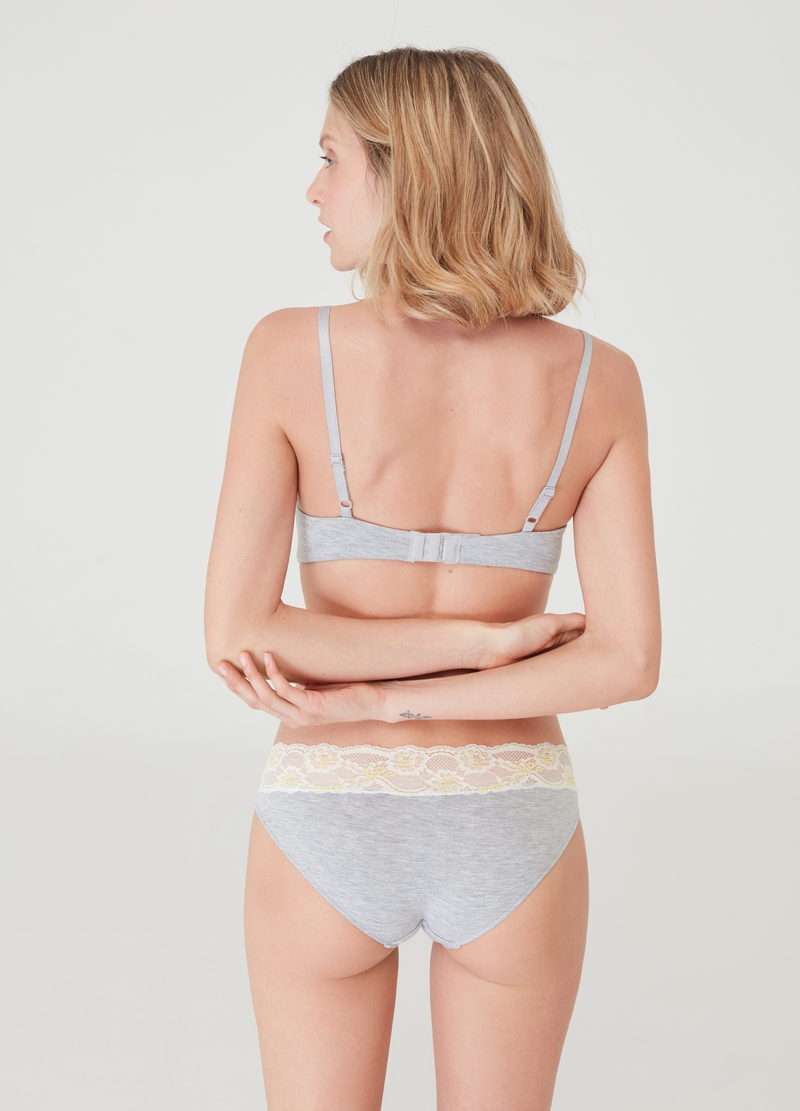 Slip mélange con pizzo image number null