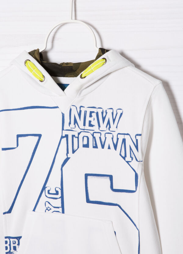 100% cotton sweatshirt with printed lettering   OVS