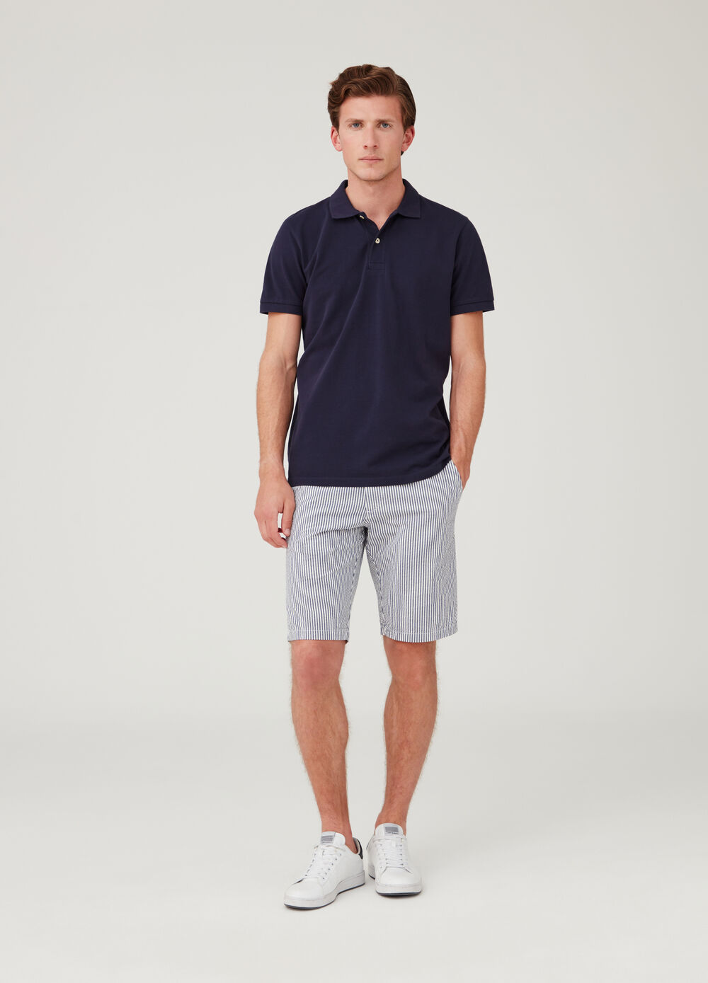 Shorts regular fit in cotone seersucker