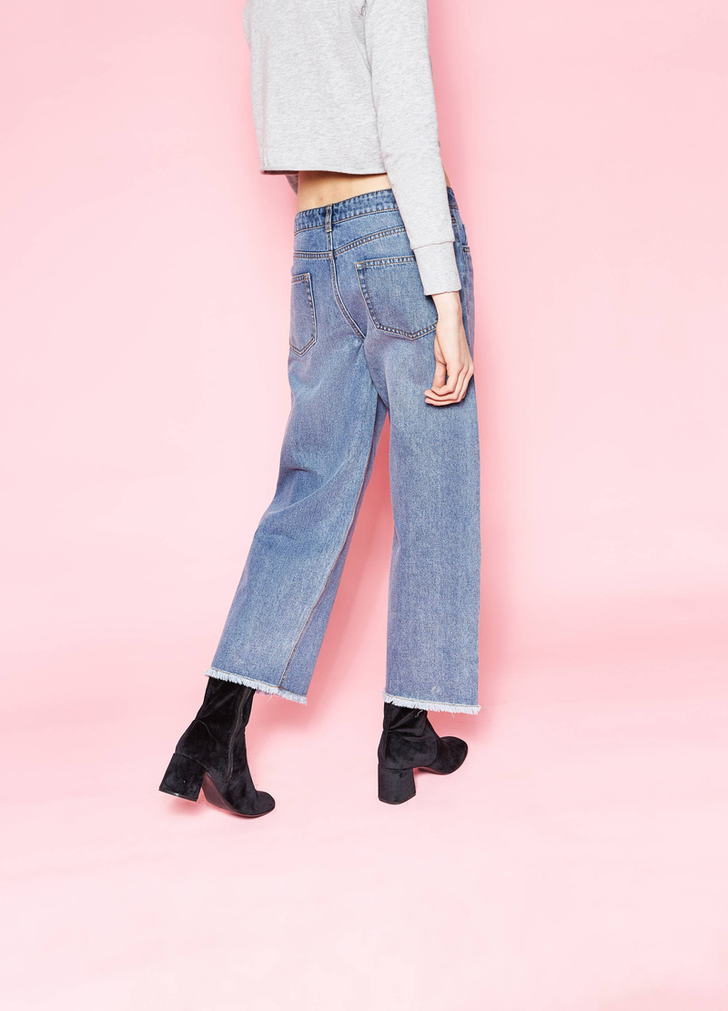 Jeans flare fit crop image number null