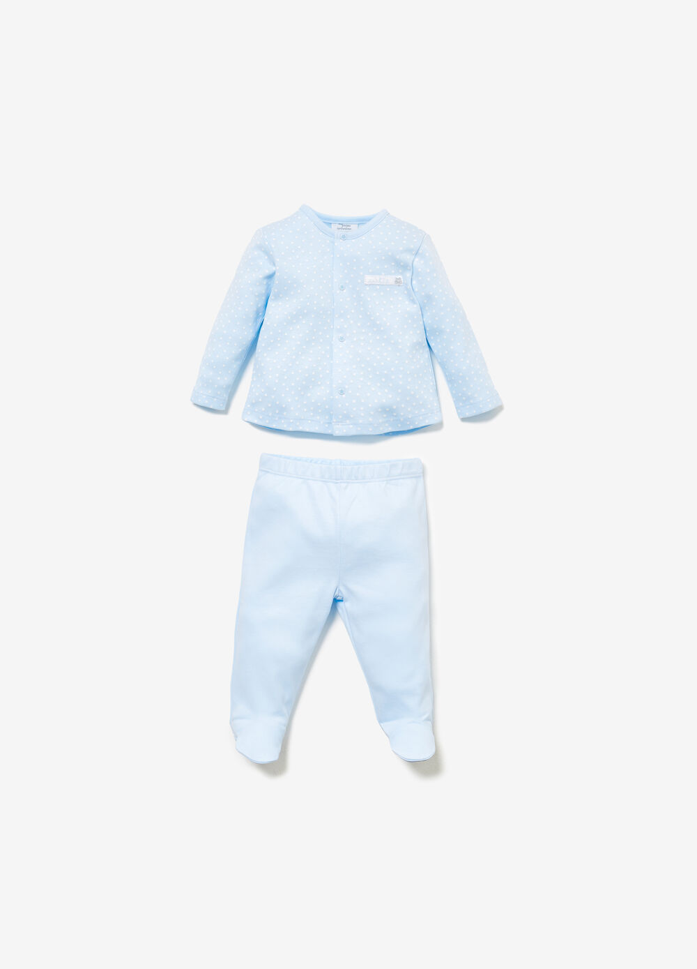 100% cotton outfit with star pattern