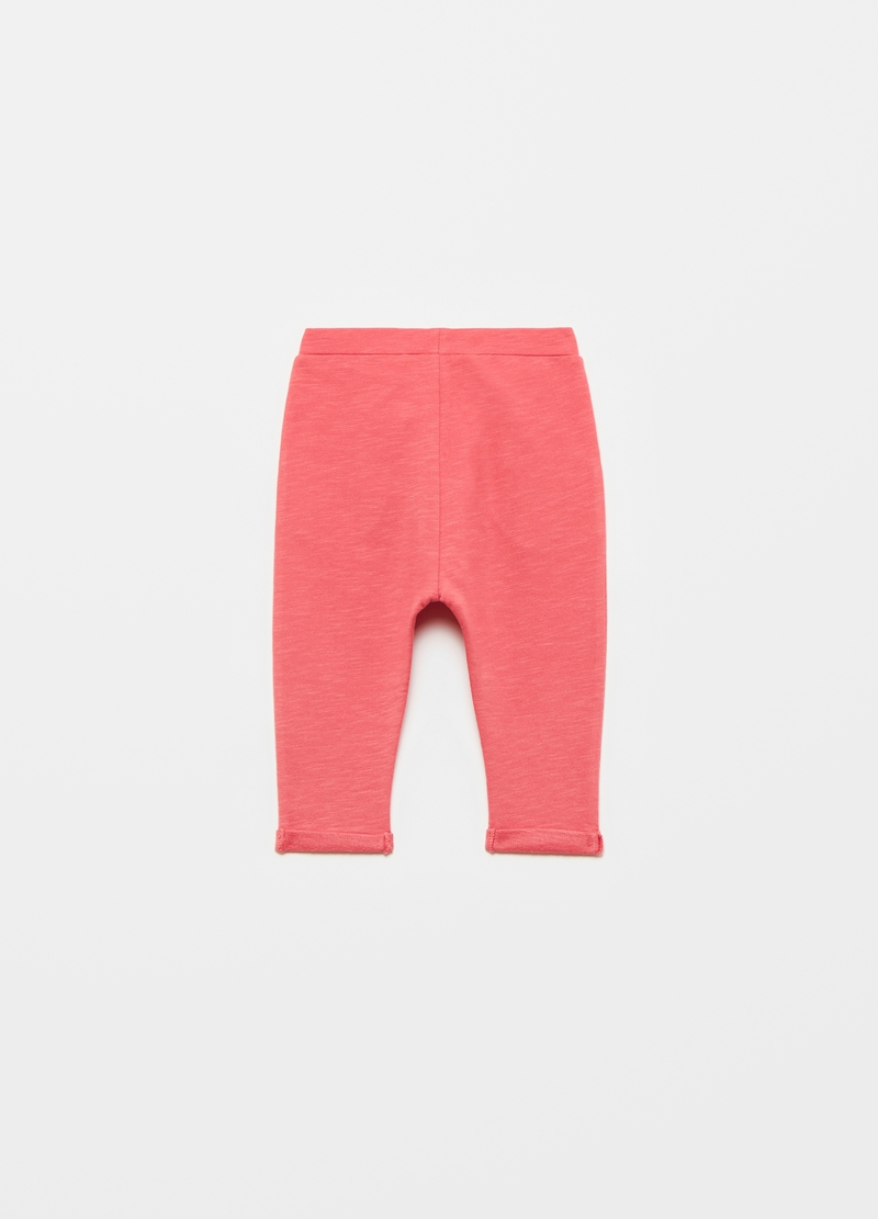 Slub cotton joggers with bow image number null