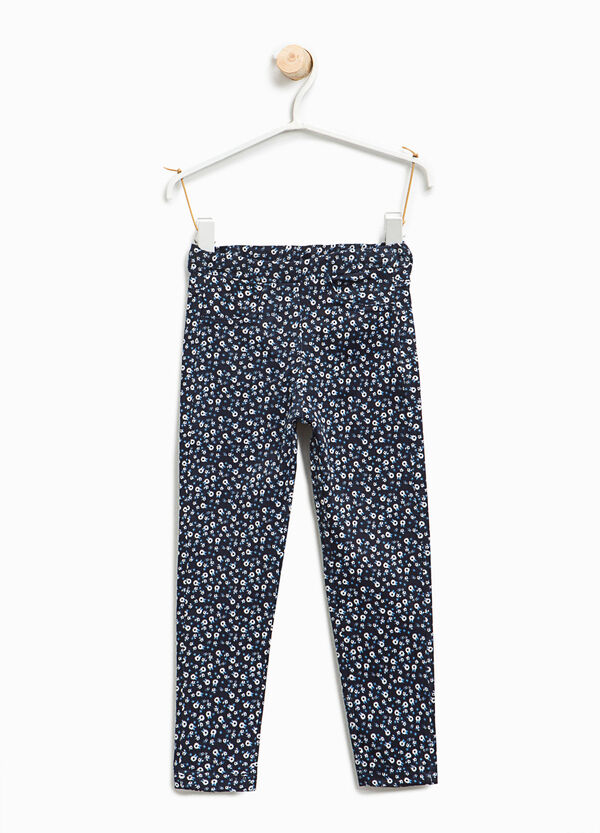 Stretch trousers with floral print | OVS